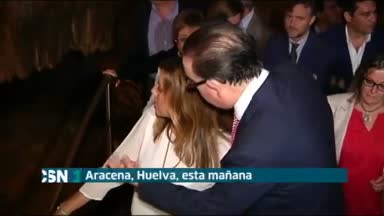Susana D�az en las Cuevas de Aracena