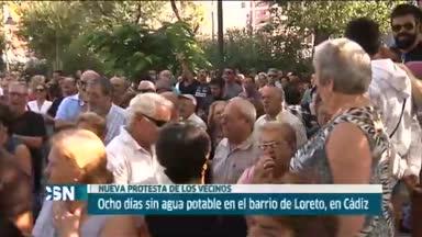 Protestas de los vecinos del barrio de Loreto