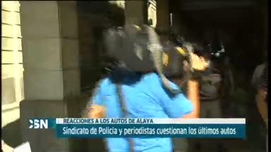 La polic�a critica la decisi�n de Alaya