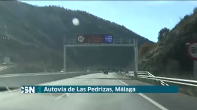 Protestas por el control de la autov�a de M�laga