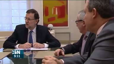 Rajoy se re�ne con sindicatos y patronal