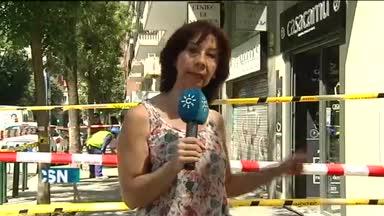 Fallece al caerle un balc�n en Madrid