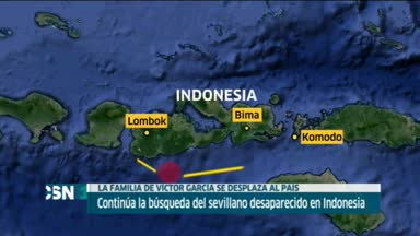 Familiares viajan a Indonesia para buscar al sevillano perdido
