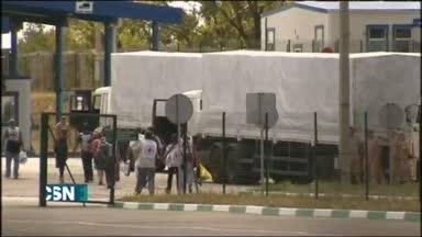 Convoy ruso entra sin permiso en Ucrania
