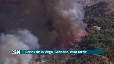 Incendio en Granada
