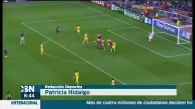 Victoria del Barcelona en Champions