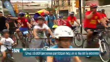 D�a de la bicicleta en M�laga
