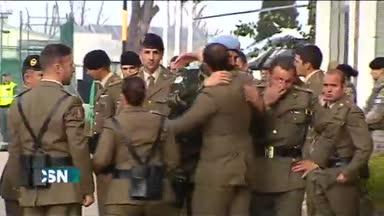 Llega a C�rdoba el cuerpo del militar de L�bano