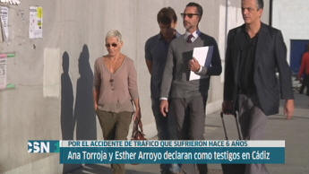 Ana Torroja y Esther Arroyo en juicio por accidente