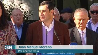 Moreno pide un gran pacto contra la violencia machista