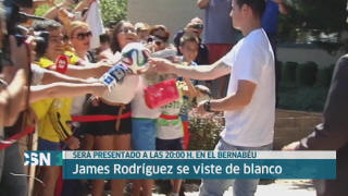 James se vestir� de blanco