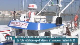 La flota andaluza no puede ir a Marruecos