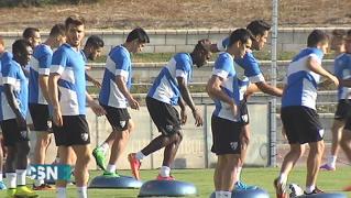 El, M�laga se prepara para el Valencia
