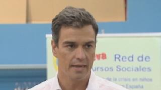Pedro S�nchez denuncia el aumento de la pobreza