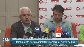 Manifestaci�n de Ence en Huelva