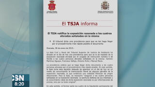 ERE: TSJA aclara que no hay nuevos imputados