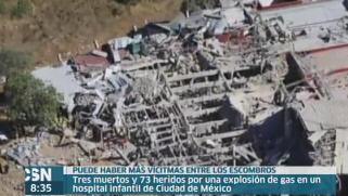 Explosi�n en un hospital de M�xico