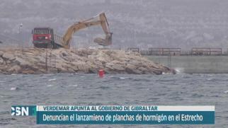 Denuncian lanzamiento planchas hormig�n Gibraltar