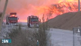 Incendio en el puerto de Motril