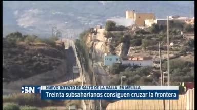 Nuevo salto masivo de la valla de Melilla