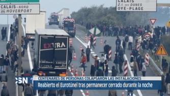 Reabierto el Eurotunel