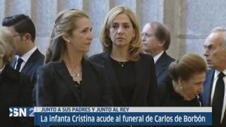 La infanta Cristina en funeral de su t�o