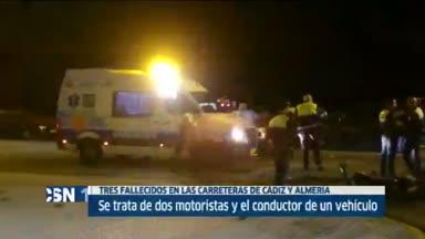 Tres fallecidos en accidentes de tr�fico en Andalc�a
