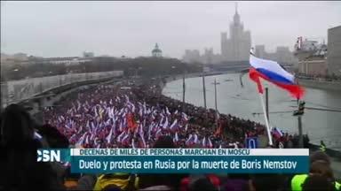 Marcha por muerte de opositor ruso