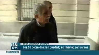 Fin de declaraciones en la operaci�n Barrados