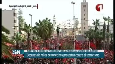 Marcha contra el yihadismo en T�nez