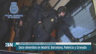 Detenidos una docena de anarquistas