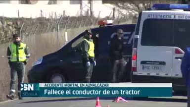 Tractorista muerto en Aznalc�zar (Sevilla)