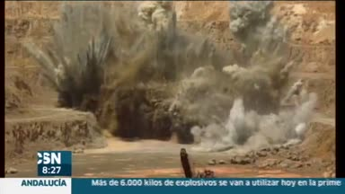Primera voladura en la mina de Riotinto