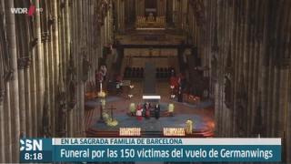 Funeral por las v�ctimas de los Alpes