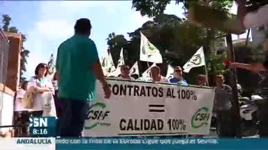 Huelga de m�dicos del Carlos Haya