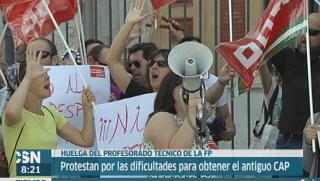 Huelga del profesorado t�cnico en FP