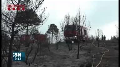 Situaci�n de los incendios en Espa�a