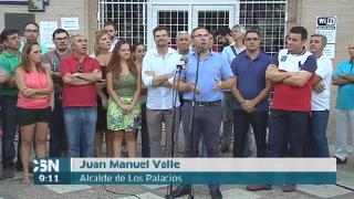 Apoyos al alcalde de los Palacios