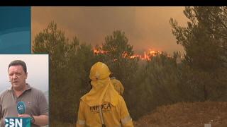 Se reaviva el incendio de Quesada