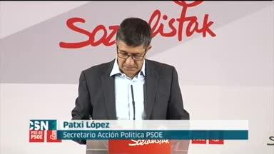 Patxi L�pez dice que Rajoy tiene miedo