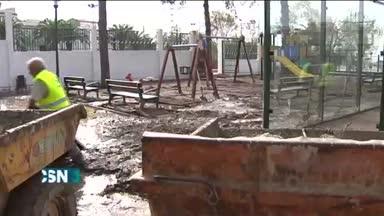 Destrozos en Torreperojil por la granizada