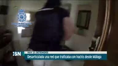 21 detenidos en M�laga por tr�fico de hachis