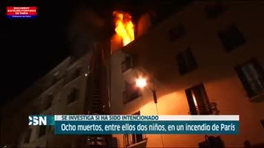 8 muertos en un incendio en Par�s
