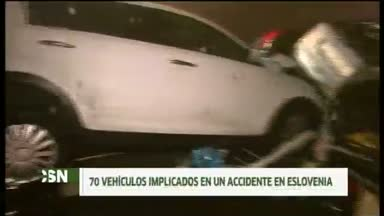 Accidente en cadena en Eslovenia