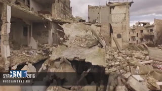 La destrucci�n de la guerra en Siria