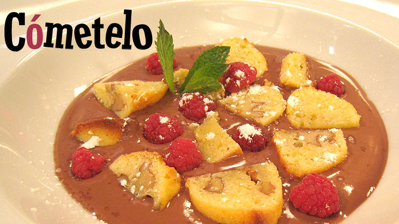 Natillas de chocolate con brownie blanco la propuesta de c metelo para este martes - La cocina de cometelo ...