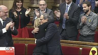 Torra, investido presidente de la Generalitat con abstención de la CUP