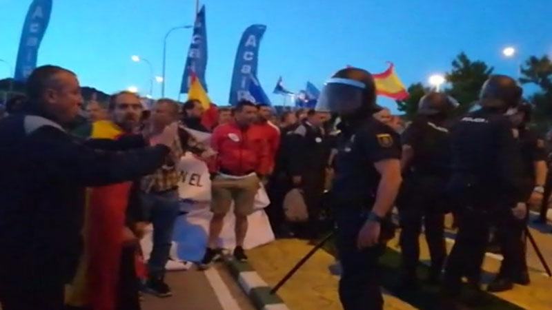 Varios heridos en una protesta de funcionarios de prisiones en Morón (Sevilla)