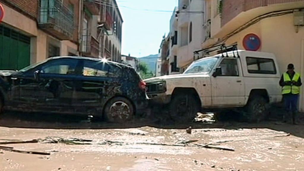 Una tremenda riada deja tres heridos en Beas de Segura