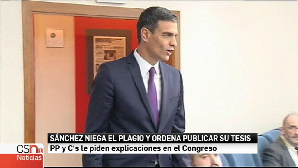 El presidente Sánchez niega el plagio y ordena publicar su tesis